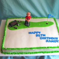 Golfer Cake Ii I had a customer request a similar cake to one I did earlier this summer. This one was marble cake with vanilla buttercream.