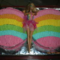 Barbie Fairytopia this is my daughter's 4th birthday.i had some problems with the colors the wings are not the one i planed next time i will change the...