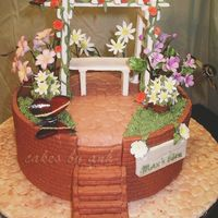 Garden Cake  I made this for my mother-in-law's birthday. She is an avid gardener. She totally loved the cake. All decorations except for the...