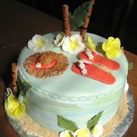 Luau Cake  This cake was made for a luau theme birthday party. Lemon pound with lemon curd bc filling. As for the fun factor, this one took first...