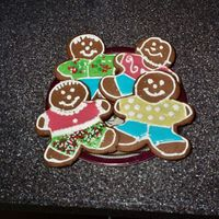 Gingerbread Men First time I've done cookie decorating with royal. Tried to do a run in technique, but this was the month before I started my first...