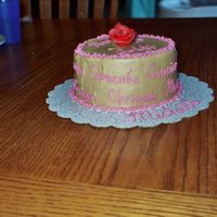 Side View Of Writing wanted to try writing on side of cake. too bad my caramel frosting hardened up so quickly - I think it would have been easier writing on a...