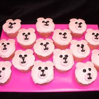 Pink Bear Cupcakes All buttercream icing