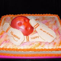 Bowling Cake This cake was almost the death of me! I was sure after having done a soccer ball, I could easily do a bowling ball atop a cake. After 3...
