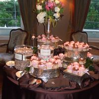 Pink & Brown Cupcakes   Cupcakes for 30th birthday party. Used Toba Garrett's recipes - her Chocolate Buttercream Icing is to die for good. Fondant flowers.
