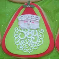 Fondant Santa Cookie   Penny's sugar cookie with fondant and royal.
