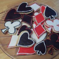 Just For Fun Poker Cookies rolled buttercream with royal trim