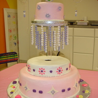 Sparkly Jewelry Cake  I made this cake for my daughter's 6th birthday party at an art studio. Cakes are buttercream with chocolate and fondant accents. &...