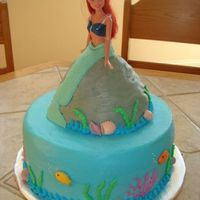 Little Mermaid  I made this cake for my daughter's birthday. It was inspired by the one posted by CustomCakesbySharon. Ariel is sitting on a...