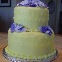 60Th Birthday Cake  I made this cake this weekend for my mother-in-law's 60th birthday. Both tiers are chocolate with raspberry filling. They're iced...