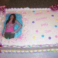 Miley Birthday Cake This is the same cake as the Hannah one but the pictures changes as you move it.