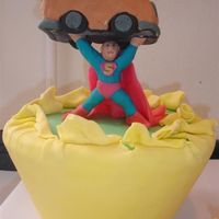 Super Baby Cake   This was made for some good friends who have a passion for the Man of Steel. David Potwin - Sweet Stuff Pastry