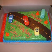 Disney Cars Cake   This cake is for a little boy who is turning 6, he wanted the disney cars theme.
