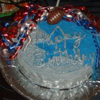 Dallas Cowboys Cake   I made this for my grandfather's birthday, he is a football fan.