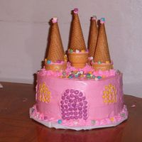 Princess Castle Cake   I made this cake for my daughters 4th birthday. She loved it!!!