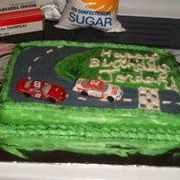 Nascar Cake I made this for my friends nephews birthday. Hes a big fan of Nascar