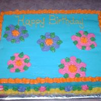 Birthday Cake   11X15 sheet cake. All Buttercream icing.