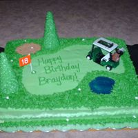 Golf Birthday Cake   11X15 chocolate sheet cake. All buttercream icing.
