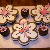 Butterflies And Dragonflies Cupcake Cake
