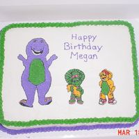 Barney Cake I was asked to make a barney cake and no one sells the barney pans anymore except for on the internet and I didn't have enough time. I...
