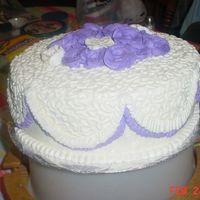 Practice Wedding Cake I did this cake to practice for a wedding cake I am doing in June. It's my first wedding cake I am really scared It's going to...