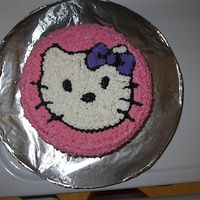 Hello Kitty This was in addition to the other Hello Kitty for the neighbor's daughter. All decorated in butter cream.