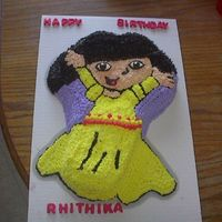 Dora The Princess This was created for a friend's daughter. She loves Dora and wanted something with Dora. The whole cake is decorated in Buttercream....