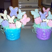 Easter Cookie Bouquet These were my first cookies & first cookie bouquets. No fail cookie and royal icing.