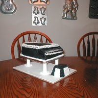 Piano Cake This is my first attempt at a piano cake. White cake with bc frosting.