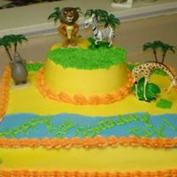Madagascar Just a simple Madagascar cake. Chocolate with cookies and cream filling, all iced in buttercream. This was a fun cake to make.