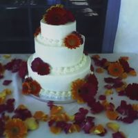Gerber Daisy Wedding Cake This is just a very simple wedding cake. Bottom layer is a chocolate cake with a Bailey's chocolate silk mousse. Second layer is...