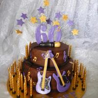 Purple Gold And Chocolate 60Th Birthday