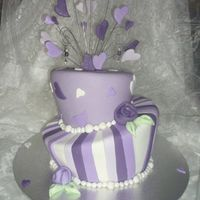 Purple Wedding Madhatter madhatter style cake for a wedding tomorrow, the bride loves purple, if you havent already guessed that...lol. all choc mud cake, fondant...