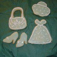 Annette's This is my second attempt at cookies. Made dresses, hat, purse and shoes for all the girls in the family.
