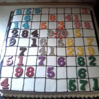 Suduko Birthday Buttercream with chocolate numbers. My friends mother was turning 70 and she loves to play suduko, my friend gave me the idea. I made...