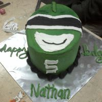 Green Power Ranger Cake My nephew loves the green power ranger. He talked about him all night. I couldn't think of anything more elaborate for a green power...