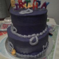 Purple Passion Birthday A very good friend of mine sent me a picture of a cake she saw done in Cali while she was out there in Dec. and this is my buttercream...
