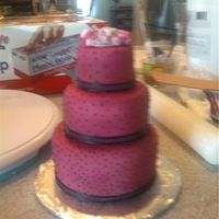 Mini Wedding Cake For Sweetheart Table   mini cake with dots