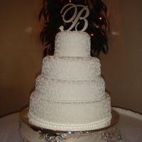 Wedding Cake With Scroll Work