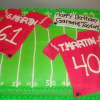 Twins Birthday   twins birthday who both love and play football! this cake was alot of fun to make!