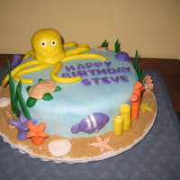 Undersea I made this cake for a coworker's birthday. He just got scuba certified.