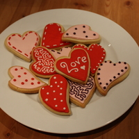 Valentines Cookies Simple sugar cookies for valentines day.