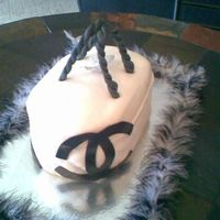 Chanel   this is my first purse cake please let me know what you think and some pointers please.