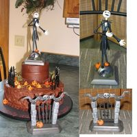 Nightmare Before Christmas This cake was done for a girl who loves the movie Nightmare Before Christmas. Pumpkins and headstones handmade out of gumpaste - Jack...