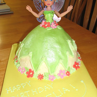 Tinkerbell Cake Made this with the Wilton pan and a store bought Tinkerbell Doll. Sometimes the simplest cakes get the bigget reactions. This one was a hit...