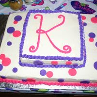 Monogram Cake Yellow cake with buttercream frosting and fondant accents