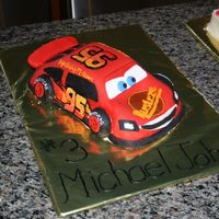 Disney's Lightning Mcqueen 2 Another view from my Lightning McQueen Cake