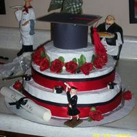 College Graduation  this one i did at the last minute..and it is my fourth cake i believe... i did it for friend.. for some reason i keep doing these late at...