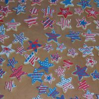 Star Cookies - July 4, 2006   NFSC covered in MMF and decorated with Antonia74's royal icing. My 7th grade niece did most of the decorating.