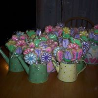 Mother's Day Cookie Bouquets I sold nine of these for Mother's Day. I could have sold more but just the nine took me all week. I'm very happy the way they...